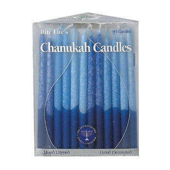 Rite Lite Frosted Blue White Candle, 45 CT