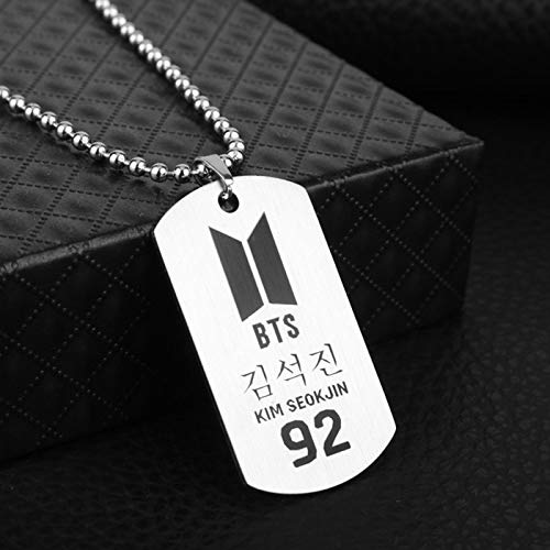 FITIONS - New KPOP BTS Bangtan Boys ARMY Album Metal Tag Necklace K-pop K pop Metal Logo Pendant Neckace For Men And Women