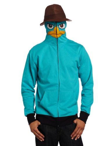 Phineas & Ferb Perry I Am P Costume Hoodie Sweatshirt | S