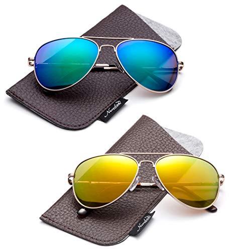 High Quality Aviator Sunglasses - Kids Juniors Aviator Polarized Sunglasses HQ