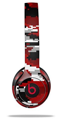 WraptorSkinz Skin Decal Wrap for Beats Solo 2 and Solo 3 Wireless headphones WraptorCamo Digital Camo Red (BEATS NOT INCLUDED) by WraptorSkinz