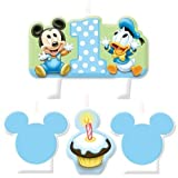 Baby Mickey Mouse 1st Birthday Mini Molded Candles Cake Disney Party Supplies