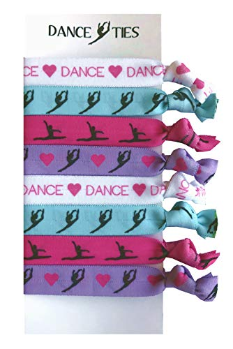 Dance Gift Set (8 Piece Dance Hair Elastic Set - Accessories for Dancers, Women, Girls, Dance Teachers, Dance Classes - MADE in the USA)