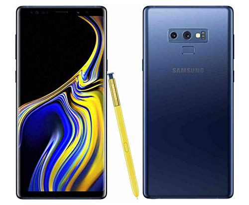 Samsung Galaxy Note 9 N960U 128GB T-Mobile GSM Unlocked Phone  (Ocean Blue, 128GB)(Renewed) ()
