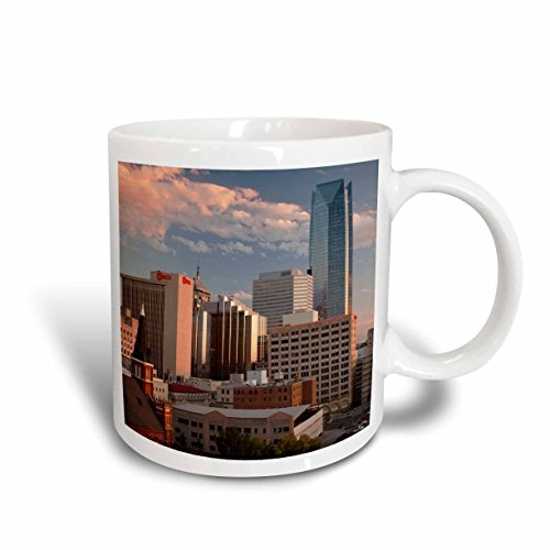 3dRose mug_192225_1 USA, Oklahoma, Oklahoma City, elevated city skyline with Devon Tower - Ceramic Mug, 11-ounce (Mug Coffee Oklahoma)