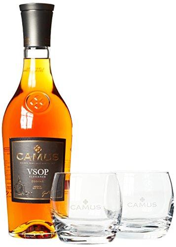 Camus VSOP Elegance Cognac mit Geschenkverpackung mit 2 Gläsern  Cognac (1 x 0.7 l)