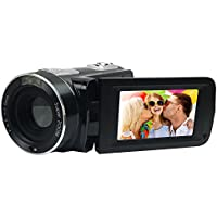 Vasens Camera Camcorders, HD 1080P 24MP 18X Digital Zoom Video Camcorder with 2.7 LCD and 270 Degree Rotation Screen