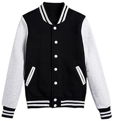 LATUD Women's Varsity Uniform Baseball Boyfriend Athletic Jacket Fleece Coat