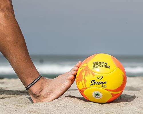 Senda Playa Beach Soccer Ball, Fair Trade Certified, Orange/Yellow, Size 5 (Ages 13 & Up)
