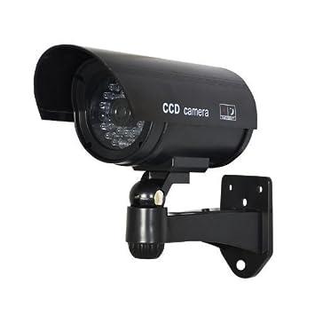 Xgeek Cámaras de Vigilancia Seguridad IR Simulado Falso Inalambrico Impermeable Con Luz Intermitente LED Rojo LED