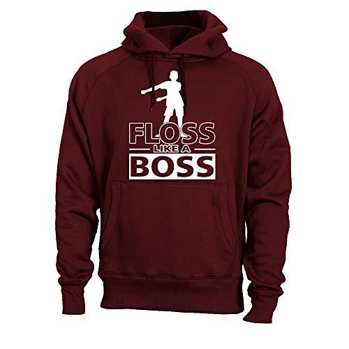Hoodie Youth Maroon (Kids Floss Like a Boss Flossin Dance Youth Adult Hoodie Sweatshirt (Maroon, Adult S))