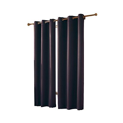 Eggplant Curtains (VCNY Home McKenzie Window Treatment Panels 42x63, Purple)