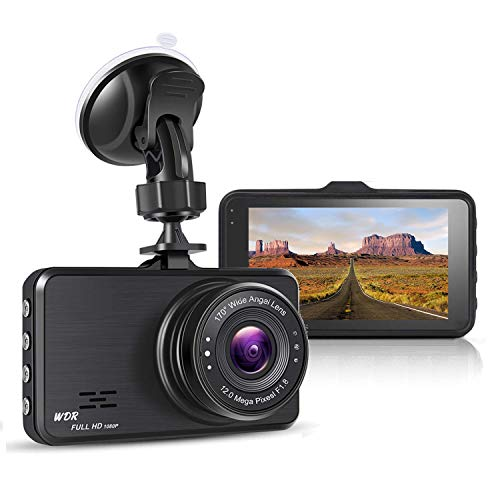 Nesolo Full HD 1080P Car Dash Cam 170° Wide Angle 3″ IPS Dashboard Camera DVR Video Recorder with WDR,Night Vision,Loop Recording,Parking Mode,G-Sensor