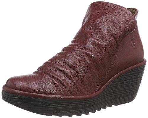 FLY London YIP - botas de caño bajo de cuero mujer rojo - Rot (Cordoba Red 020)
