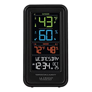 La Crosse Technology S82967-INT Wireless Digital Personal Weather Station, Black Patio, Lawn and Garden