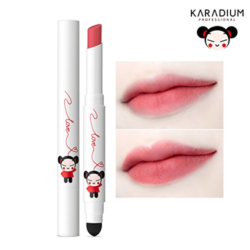 [KARADIUM] PUCCA LOVE EDITION Smudging Velvet Matte Long Lasting Lip Tint Stick 1.4g - 6 Colors (#05 SOFT ROSE)