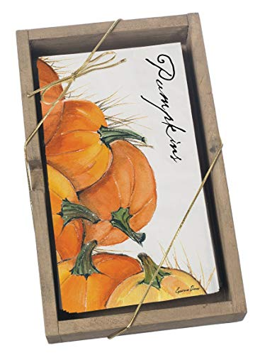 (The White Azalea Sullivans Box 16 Guest Towels Cynthia Dunn Pumpkin Motiff Disposable Paper Towels Perfect for Kitchen and Bath and Decor for Fall and Thanksgiving Holiday Decorations)