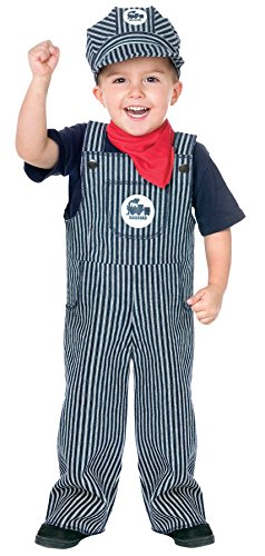 UHC Little Boys Train Engineer Outfit Toddler Kids Fancy Dress Halloween Costume, (Train Engineer Toddler Costume 2t)