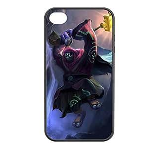 Jax-003 League of Legends LoL case cover for Apple iPhone 4 / 4S - Rubber Black