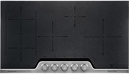 Frigidaire Professional 36 Inch Electric 5-Burner Induction Stainless Steel-Heats Fast and Even FPIC3677RF Cooktop