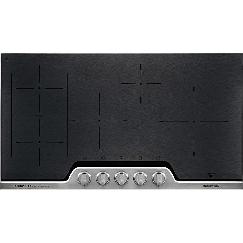 Frigidaire Professional 36 Inch Electric 5-Burner Induction Stainless Steel-Heats Fast and Even, FPIC3677RF Cooktop