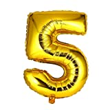 Kongqiabona 40 inch Number Foil Balloon Digit Air Mylar Ballons Outdoor Happy Birthday Party Wedding Decoration Event Party Supplies