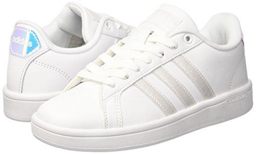 Femme ftwwht ftwwht Basses Adidas Sneakers Cloudfoam Blanc cblack Advantage wIaAq4U
