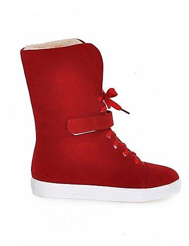 Casual Rojo 5 Eu34 5 Cn43 Punta Beige Cuña Amarillo Vestido Cuñas 5 Botas Zapatos La Moda Uk2 Mujer De Yellow Uk8 Xzz Vellón us10 Redonda Eu42 Cn33 5 4 Tacón us4 Red 2 A SqCORaxw