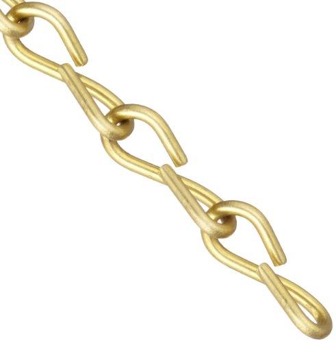 Brady 23308 50 Feet Brass 16 Jack Chain ()