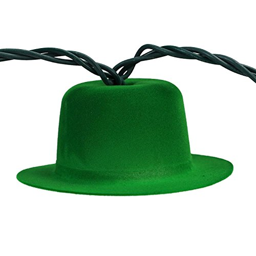 Sienna Derby Hat St. Patrick's Day Novelty Lights with Green Wire, Set of (Green Plastic Derby Hat)