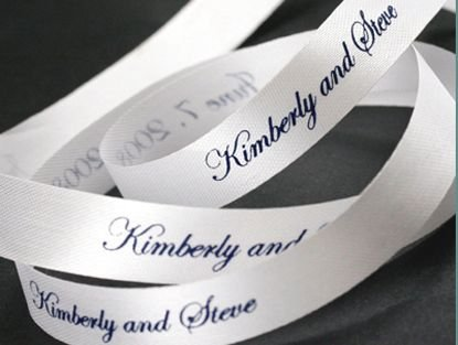 6mm-75mm Printing Ink Continuous Printed Personalized Ribbon 100 Yards/Lot for Favors, Wedding, Baby Shower, Christening, Party, Every Occasion (Custom Printed Ribbon)