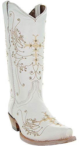 Soto Boots Women's Wedding Cowgirl Boots M50040 (White,10.5)