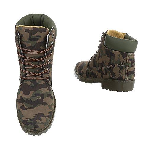 design Donna Combat Stivali Ital Cachi RcdAqnW