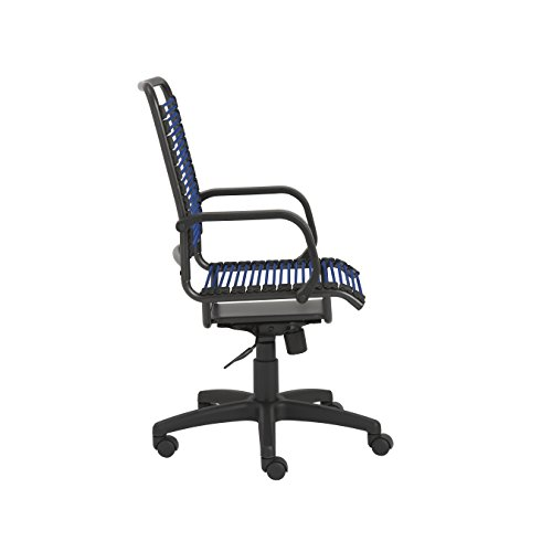 Eur Style 02548BLU Bradley Bungie Office Chair, L 27 W 23 H 37.5-43 SH 17.5-23, Blue