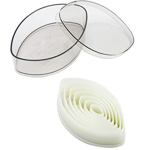 Leaf Shaped Cookie Cutter Set 7 Pieces Nylon Cake Cutter Biscuit Cutter Set with Plastic Case