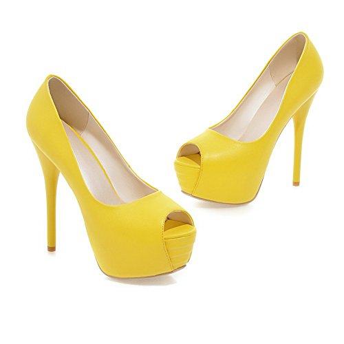 Mujer Vestir Amarillo Para Adee Zapatos De wqIxIF4zE