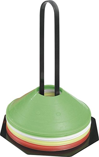 Gilbert Rugby Sports Training Aids Boundary Marking 50 Cones + Carrier by Sportsgear US