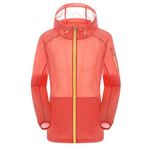Pongfunsy Women's Waterproof Cycling Bike Jacket, Running Rain Jacket, Running Sun Jacket Windbreaker Orange