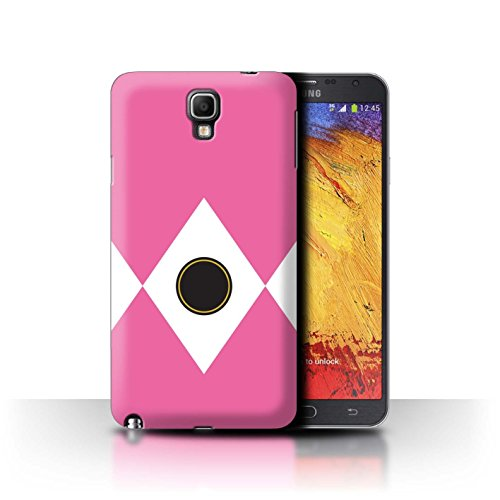 (STUFF4 Phone Case/Cover for Samsung Galaxy Note 3 Neo/Pink Design/TV Comic Rangers Collection)
