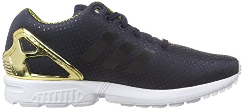 Adidas Zx Flux Black With Gold Sole