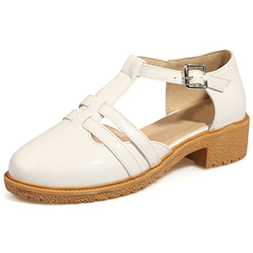 Women's Round Toe Platform High Heels Club Shoes with Cut Out - 5