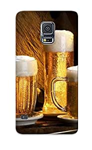 New Arrival Premium Galaxy S5 Case Cover With Appearance (beer )