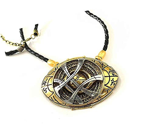 Blingsoul Benedict Cumberbatch Costume Cosplay Necklace for Men - Eye Amulet Stone Props Jewelry Merchandise Necklaces for Women (Large)]()