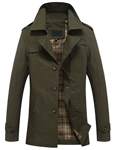 Breasted Notch Army Gentle Windbreaker Collar Trench Coat Single Men's Chouyatou XSwq4E
