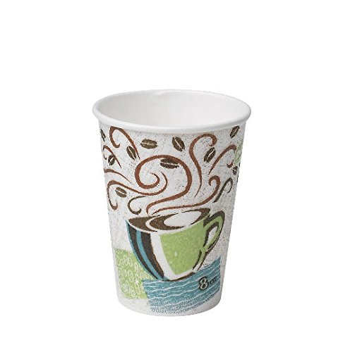 Dixie Perfectouch Insulated Paper Hot Cups, 12 OZ, Assorted Designs, Case of 1,000