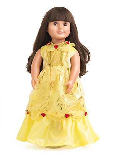 Little Adventures Yellow Beauty Matching Doll Dress