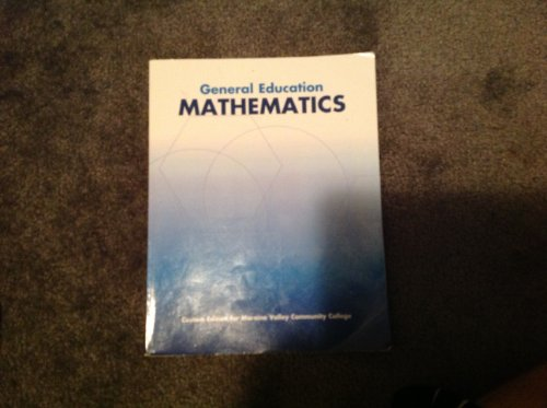General Education Mathematics Custom Edition for Moraine Valley Community College