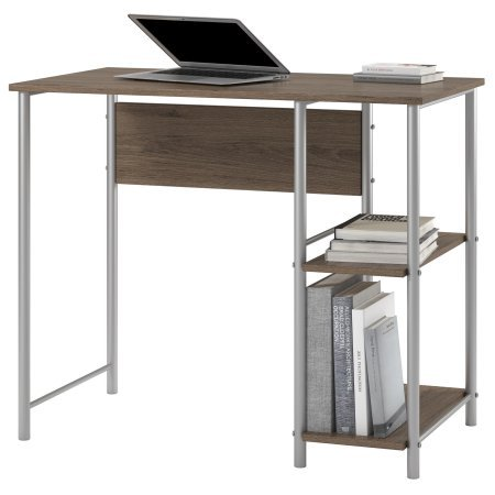 (Garrett Metal Student Computer Desk in Rustic Oak)