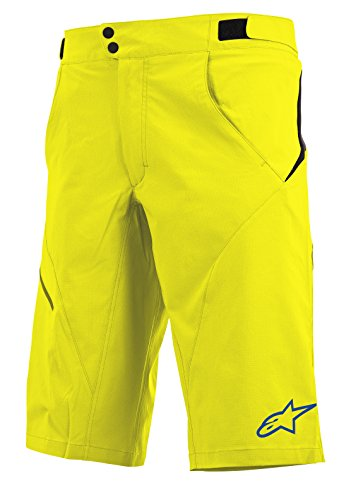 - Alpinestars Pathfinder Shorts (No Liner), Acid Yellow - Abyss Blue, 34