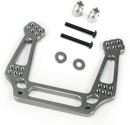 Grey//Gun Metal Replaces Traxxas Part 3639 Atomik RC Traxxas Rustler 1:10 Aluminum Alloy Front Shock Tower Hop Up Upgrade